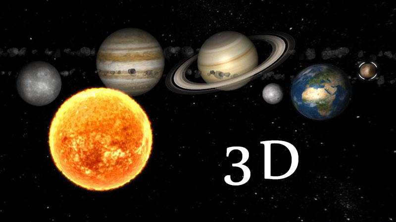 solar system of 3 d-#33