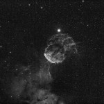 Camera : Astro60D (cooled at-16C) Telescope/Lens : Takahashi FSQ-85ED w 0.73x reducer (327mm f/3.8 ) Filter : Astronomik 6nm Ha ISO : 3200 Tracking Mount : Takahashi EM-11 Autoguide : SBIG SG-4 Total Exposure Time : 8mins x 36frames w Dark Frames, Bias Frames process w DSS,PI, PS5