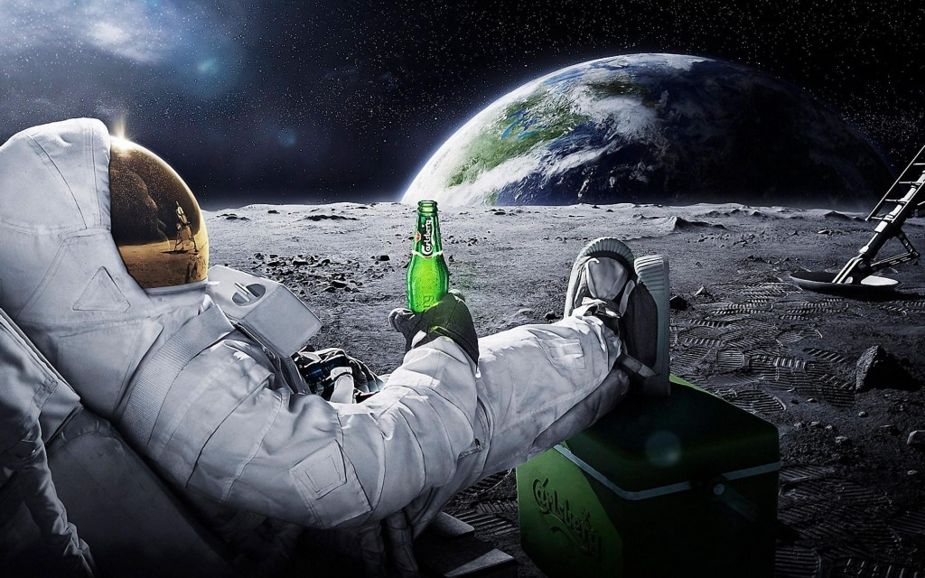 Cosmonaut with a Carlsberg beer _13757860721188