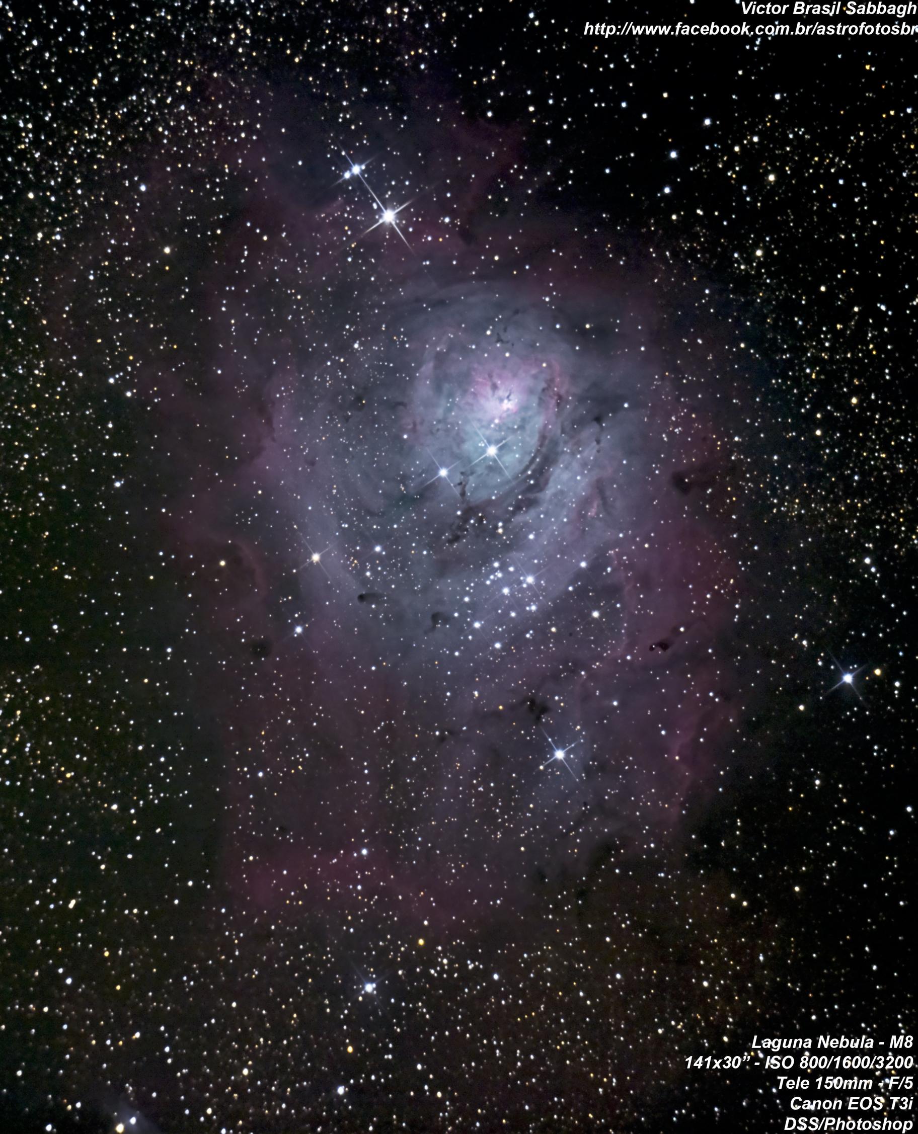 NGC 6523 o Lagoon nebula The Heavens SpaceStarsPlanets