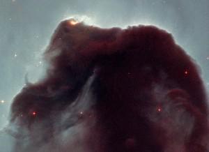 Imagen de la conocida Nebulosa Cabeza de Caballo en Orión.