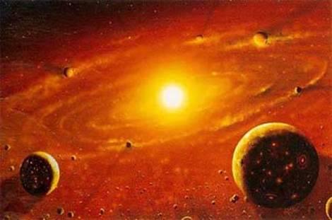 fprmacion del sistema solar