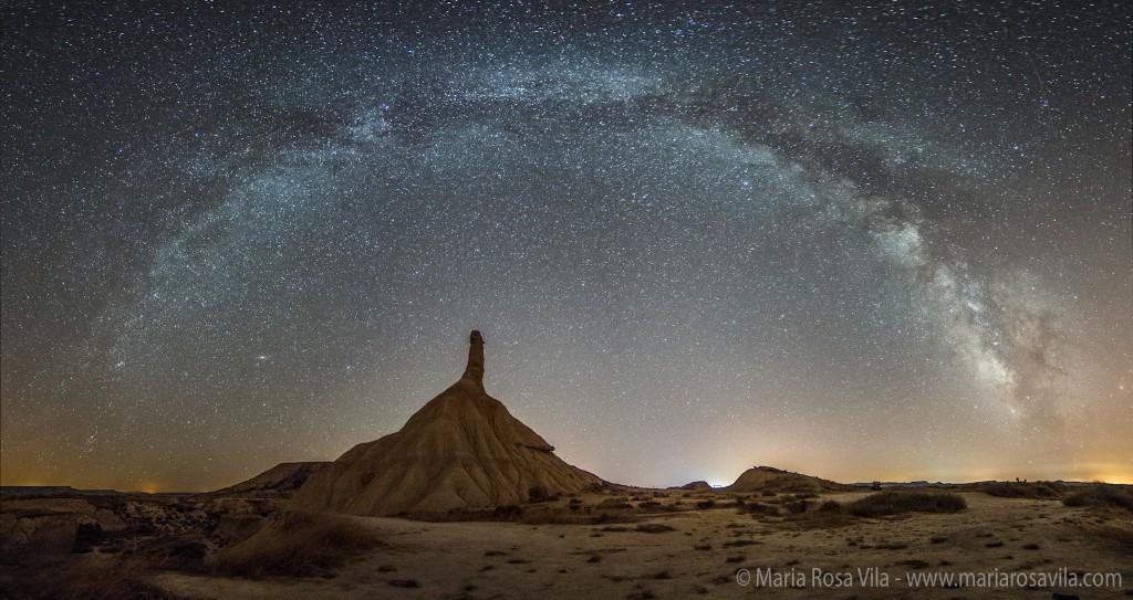 Млечный Путь над испанской пустыней Барденас-Реалес